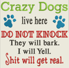 AGD 7098 Crazy Dogs - Paw Prints