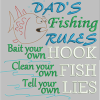 AGD 9040 DAD'S FISHING RULES