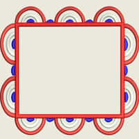 AGD 9050 Red White & Blue Monogram Frame