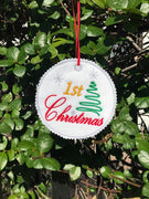 AGD 9308 1st Christmas Ornament