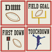 AGD 9442 Football Coasters