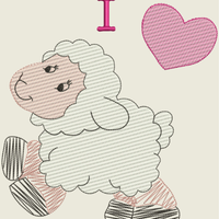 AGD 9828 I Love Sheep