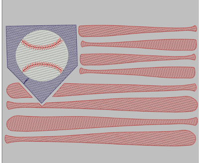 AGD 9830 Baseball Flag