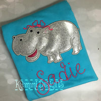 AGD 9898 Applique Hippo