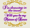 AGD 1858 Will you be my Matron of Honor