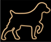 AGD 2140 Brittany  Spaniel Applique