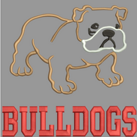 AGD 2144 Bull Dog Applique