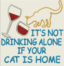 AGD 2264 Not Drinking Alone (cats)