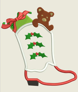 AGD 2280 Texas Stocking Applique