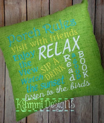 AGD 2588 Porch Rules