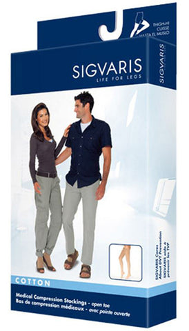 SIGVARIS COTTON THIGH HIGH STOCKINGS 30-40