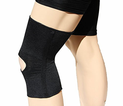 Compressive Knit Elastic Knee Sleeve with Dual Stays