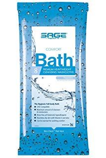 Sage® Comfort Bath Premium Heavyweight® Cleansing Washcloths
