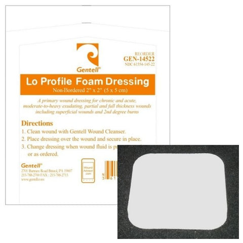 Gentell® Lo Profile Bordered Foam Dressing