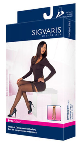 SIGVARIS EVERSHEER THIGH HIGH STOCKINGS 20-30