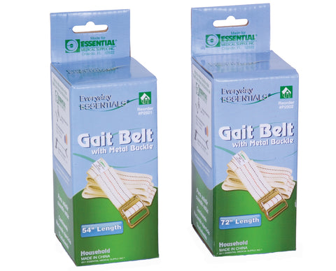 Essential® Gait Belt With Metal Buckles