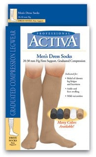 ACTIVA MENS CASUAL AND DRESS SOCK KNEE HIGH 15-20