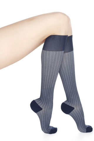 medi Rejuva Herringbone Knee-Highs 20-30mmHg