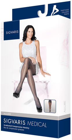 SIGVARIS SHEER PATTERNED PANTYHOSE 20-30