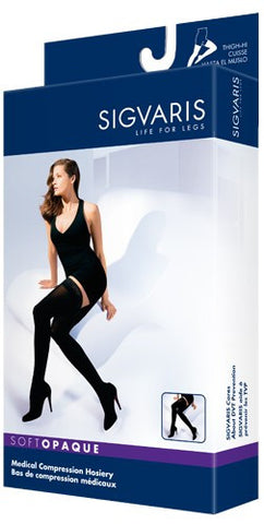 SIGVARIS SOFT OPAQUE THIGH HIGH STOCKINGS 30-40