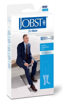 JOBST FOR MEN KNEE HIGH STOCKINGS 15-20