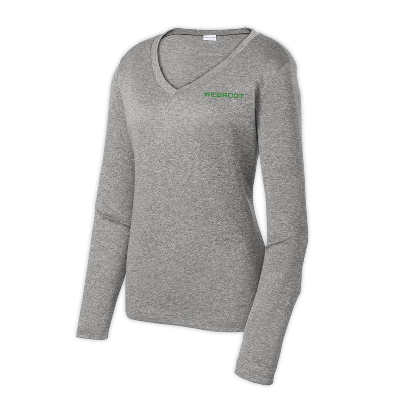 Sport-Tek Women's Long Sleeve Contender V-Neck Tee
