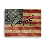 Old Glory Canvas Art