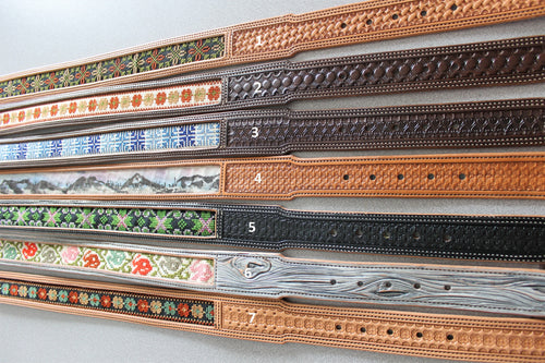 "Assorted 1 ½"" belts. Mainly Embroidered."