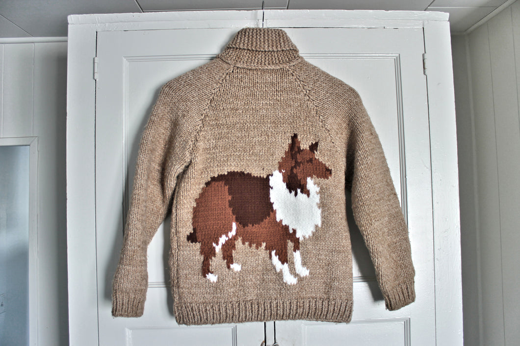 'Lassie' 1970's Mary Maxim Sweater- Kids