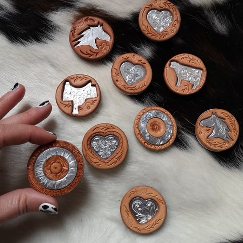 Leather with Engraving PopSockets