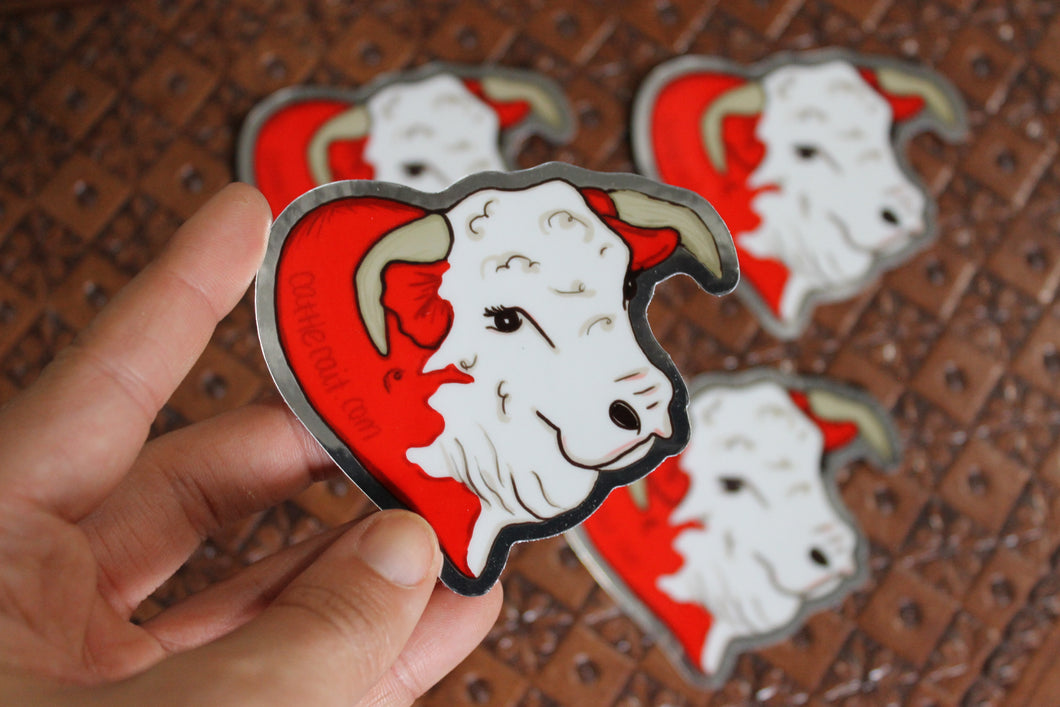 Norman: The Adore-A-Bull Hereford Sticker