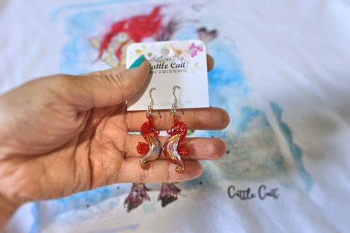 Glass Seahorse Earrings