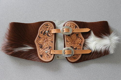 Ladies Hair-on-Hide Bronc Belt