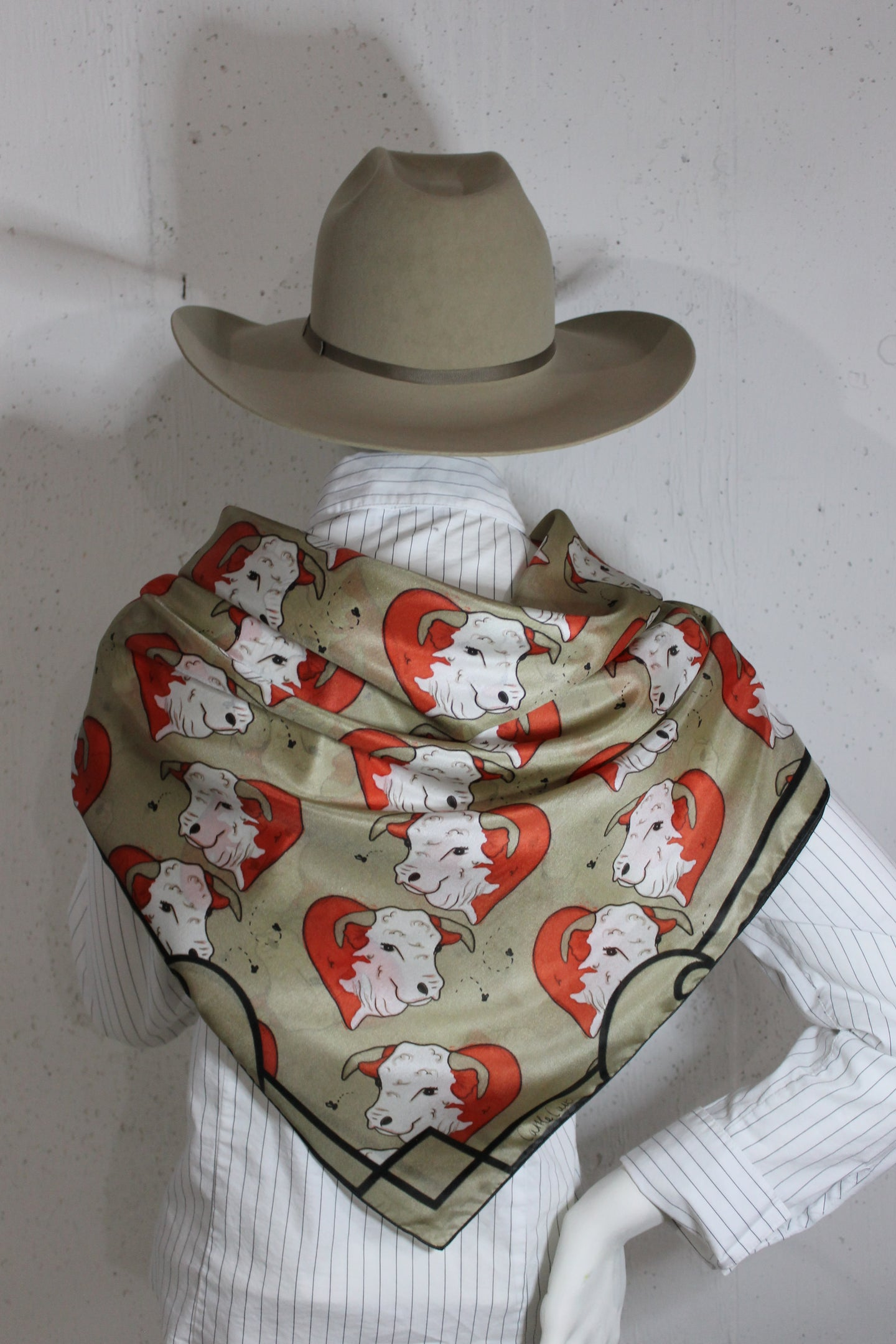 Norman the Adore-a-Bull Hereford™ 100% Silk Scarf