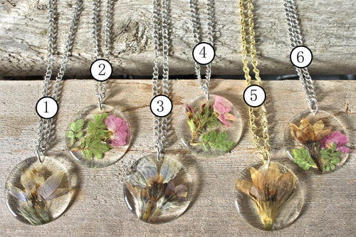 Crocus & Wild Rose Pendants