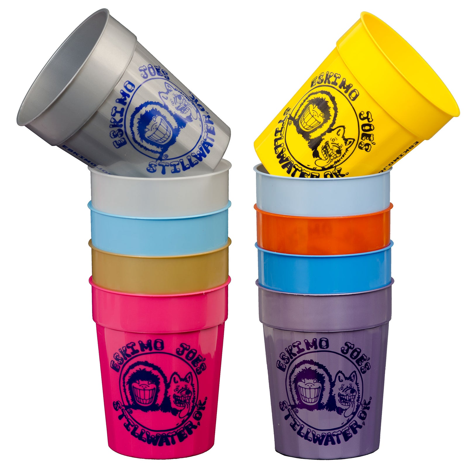 SET OF 10 ASSORTED CUPS - CUP10