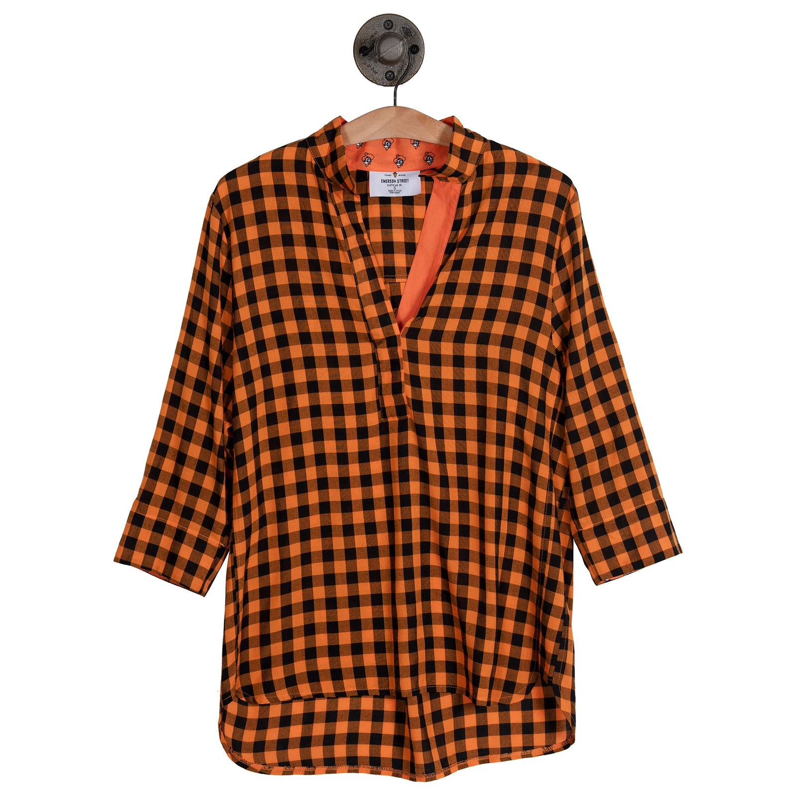 OSU KEELEY GINGHAM LONG TUNIC - OSUKGLT