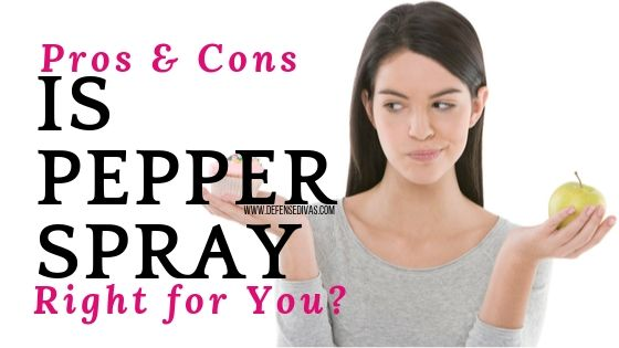 link to article on pros and cons of pepper spray self defense