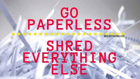 Identity Theft Lessons from Capital One Data Breach go paperless and shred