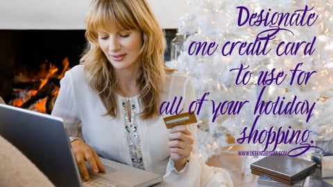 USE ONE CREDIT CARD FOR ALL YOUR HOLIDAY SHOPPING