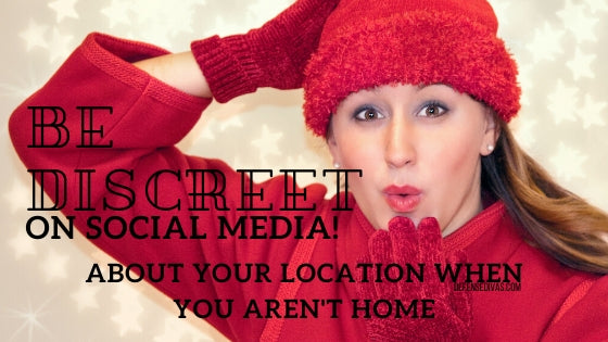 avoid social media posts of location home safety tips