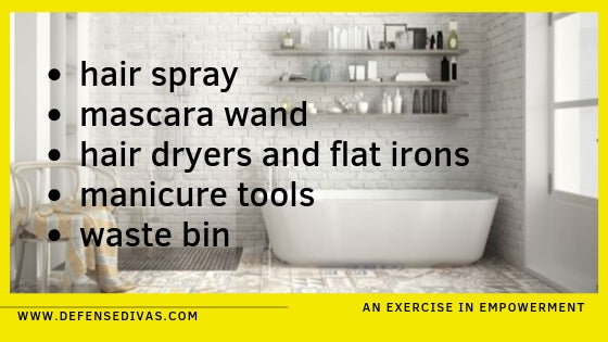 bathroom household items you can you to defend yourself defense divas personal safety education