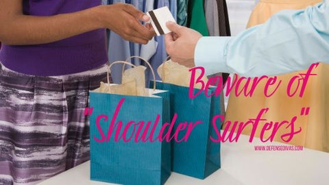 beware of shoulder surfers holiday shopping safety tips