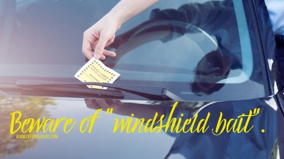 beware of windshield bait holiday shopping safety tips