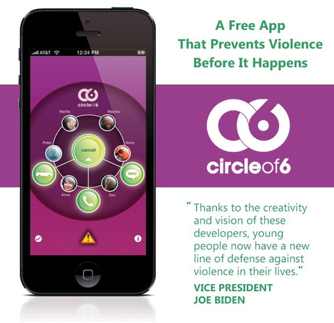 circle of 6 womens personal safety date rape prevention free app