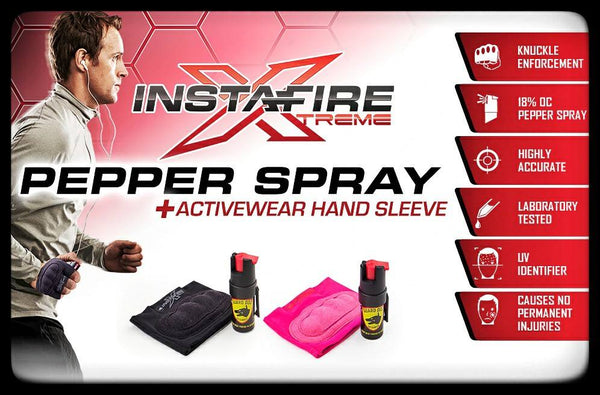 defense divas instafire black or pink pepper spray jogging mace glove pepper spray glove product description