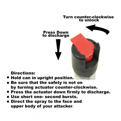 defense divas pepper spray locking safety twist cap