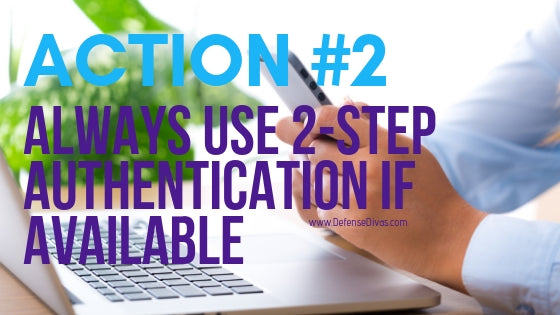identity safety tip use 2 step authentication internet security