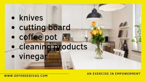kitchen household items you can you to defend yourself defense divas personal safety education