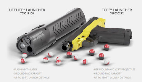 pepperball lifelite launcher and tcp launcher pepper spray pellet self defense products